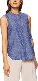 Jag Women's Linen Sleeveless Shirt