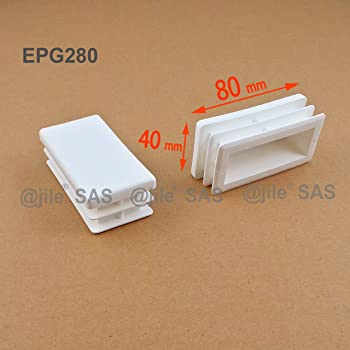 GRIS di/ámetro 40 mm EPR340-M 4 piezas ajile Contera redonda acanalada para tubos