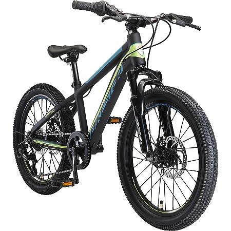 """BIKESTAR MTB Mountain Bike 20"""" Alluminio per Bambini 6-9 Anni   Bicicletta Telaio Pollici 11.5 velocità Shimano, Hardtail, Freni a Disco, sospensioni"""