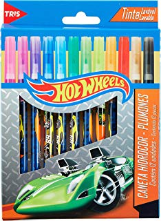 Hidrocor Hot Wheels, Mattel, 7897476643878, Multicor, pacote de 12