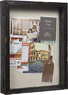 Everly Hart Collection 11x14 Distressed Black Picture Frame Display Shadow Boxes