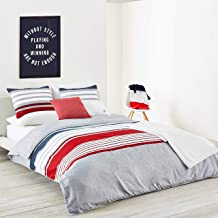 Lacoste Auckland Comforter Set, Chili Pepper, Twin/Twin Extra Long