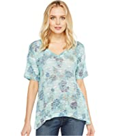 Nally & Millie - Floral Print V-Neck Top