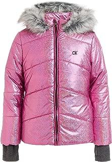 Calvin Klein Big Girls' Metallic Puffer Jacket