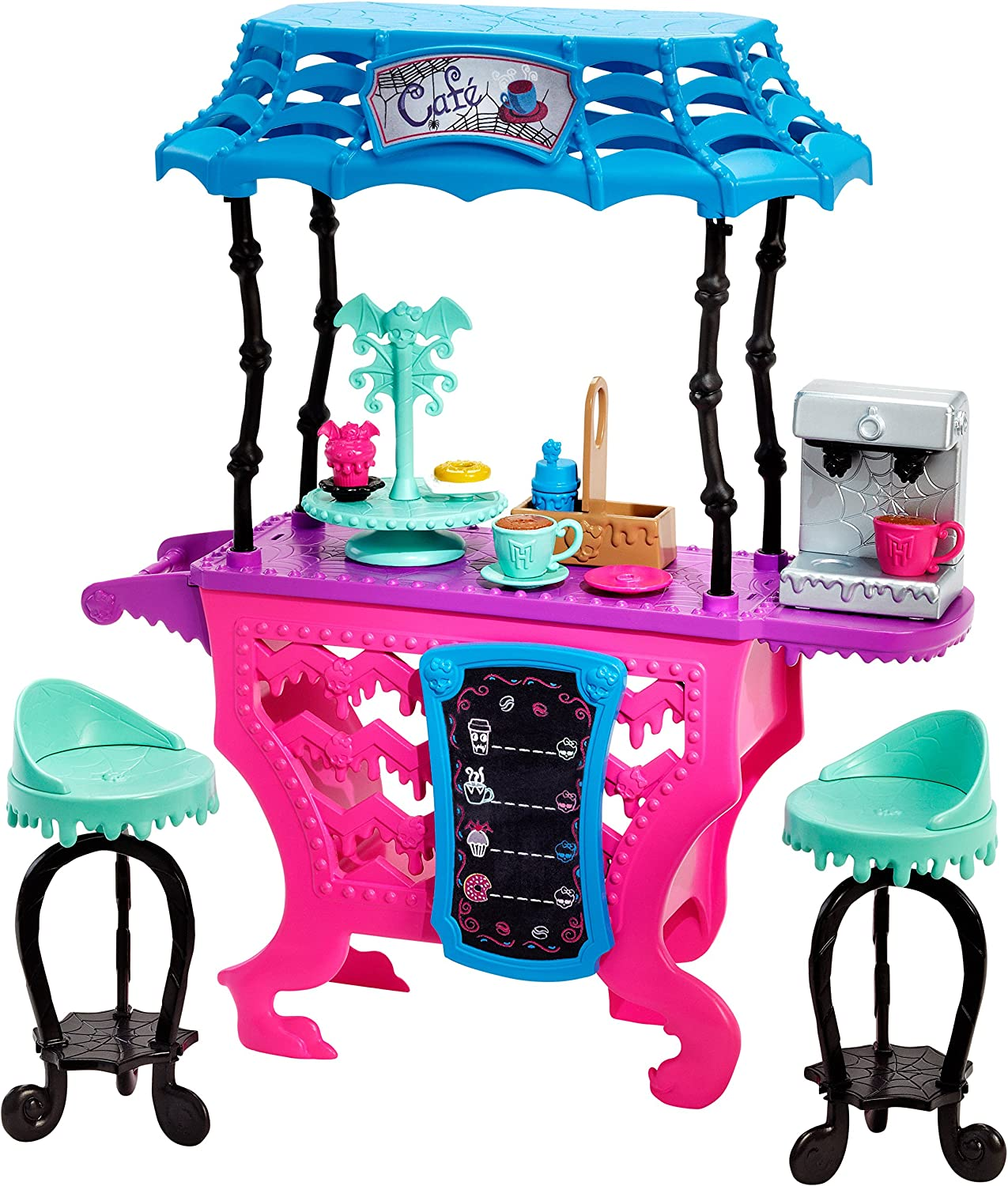Mattel DNX01 Toy  Monster High  Fright Roast Coffee Deluxe Fashion Doll Cafe Playset