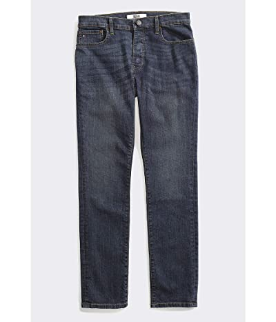Tommy Hilfiger Adaptive Seated Fit Jeans Adjustable Waist Magnet Buttons (Dark Wash) Men