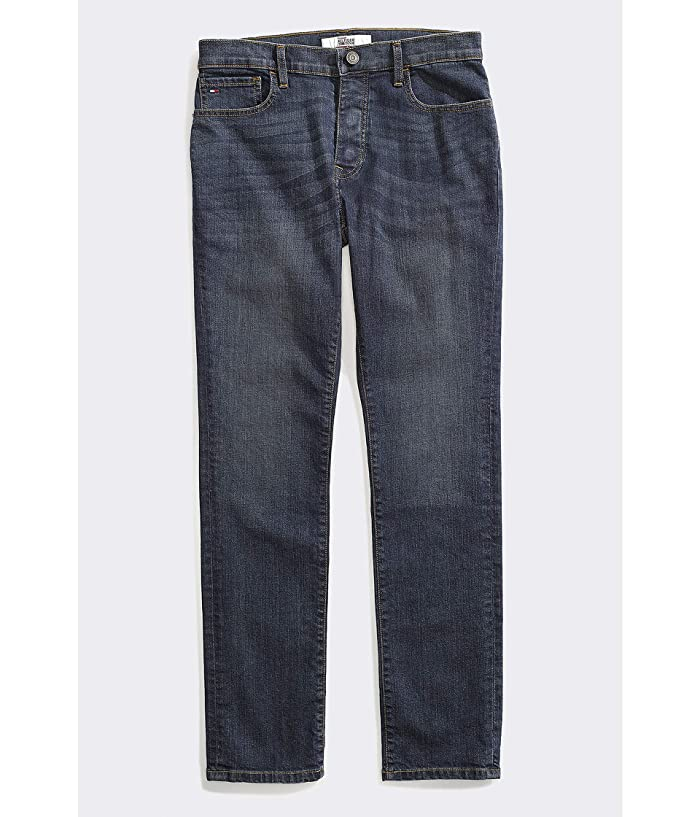 Tommy Hilfiger Adaptive  Seated Fit Jeans Adjustable Waist Magnet Buttons (Dark Wash) Mens Jeans