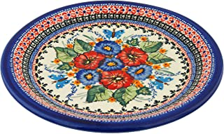 Polish Pottery Dinner Plate 11-inch Spring Splendor UNIKAT