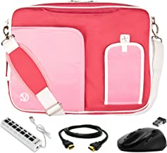 Light Pink Laptop Bag, HDMI Cable, Mouse, USB Hub for Samsung Notebook 9 Pen, Notebook 5, 7 Spin, 9 Pro 15.6inch