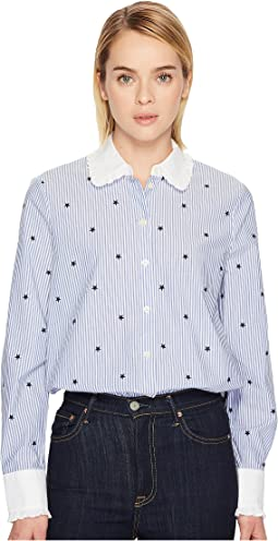 Kate Spade New York - Twinkle Stripe Poplin Shirt