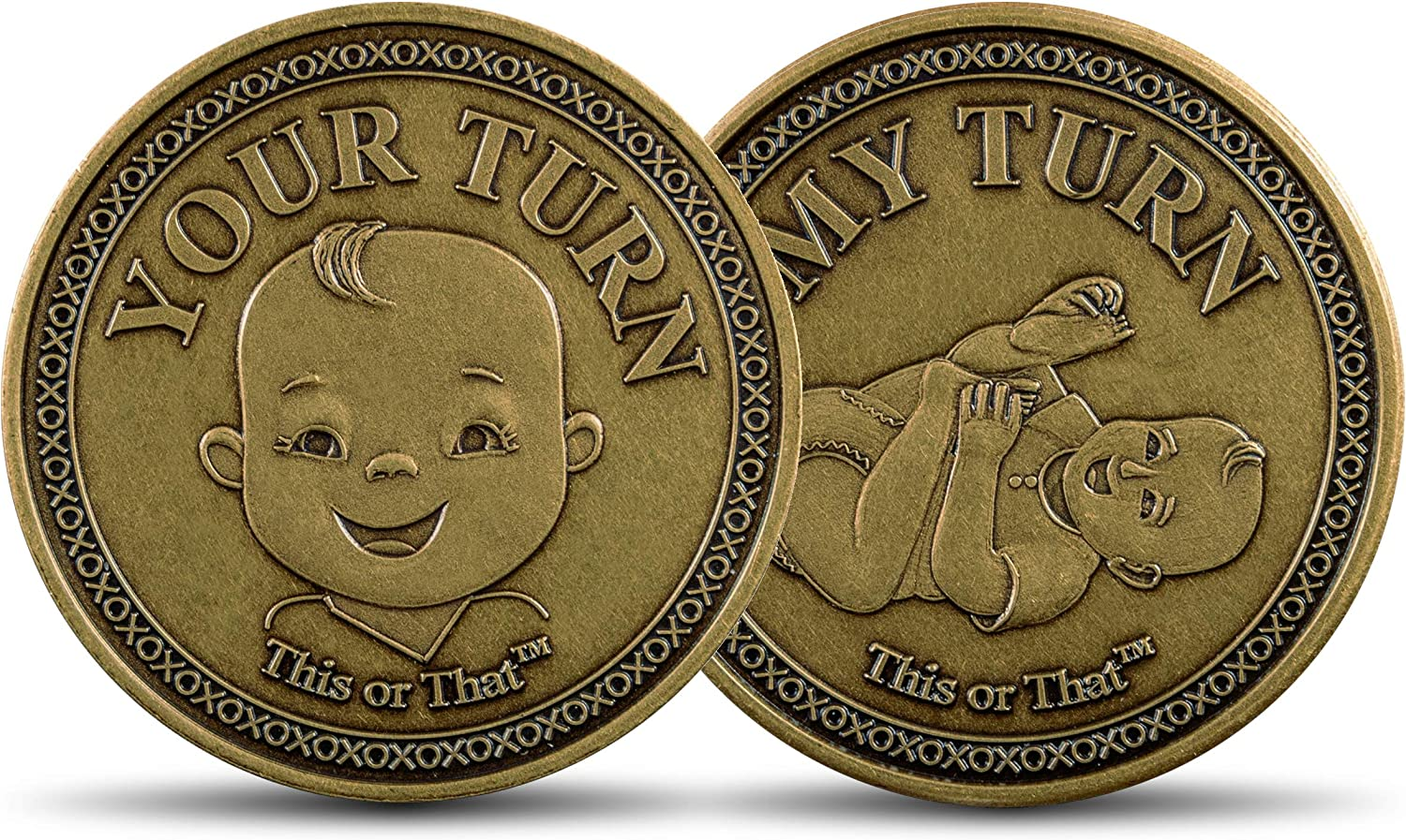 This or That Original Diaper Changing Decision Making Coin | Flip The Coin to See Who Changes Diaper – Unique for Expecting Parents or Fun Way to Celebrate Parenthood