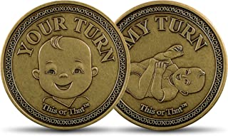 This or That Original Diaper Changing Coin | Flip Coin to See Who Changes Diaper – Baby Shower Gift