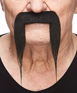Mustaches Fake Mustache, Self Adhesive, Novelty, Fu Manchu False Facial Hair