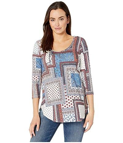 Karen Kane 3/4 Sleeve Shirttail Tee (Print) Women