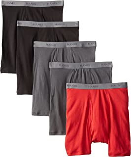 Hanes Ultimate Men's 5-Pack FreshIQ Fashion Boxer Briefs, Assorted, Large