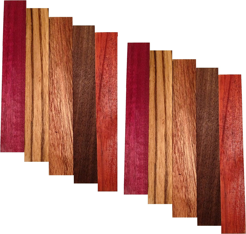and red palm wood pen blanks purpleheart osage orange Marblewood
