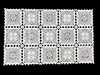 Amornphan 4 Pieces White Rectangle Floral Lace Classic Style Embossed Woven Vinyl PVC Placemats Doily Table Pad Dinning Kitchen Decor 12X19.5 Inches