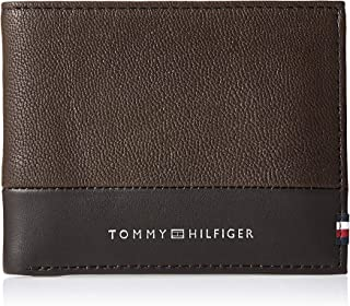 Tommy Hilfiger Textured Mini CC Wallet, Brown, AM0AM05645