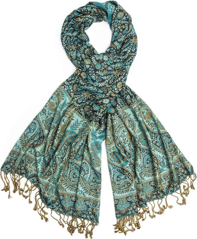 Bohomonde, Prema, Reversible Cashmere Silk Pashmina Scarf, hand made in India