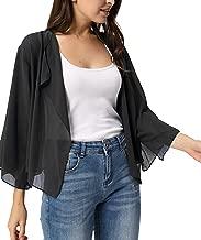 Kate Kasin Women Summer Cardigans Chiffon Loose Kimono Cardigan Capes Bolero Shrug S-XXL