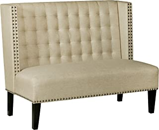 Pulaski  Home Comfort Shelter Back Tufted Upholstered Settee Accent Chair, 52