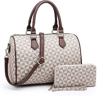 XB Handbags Women's Satchel Shoulder Bag And Wallet Set