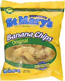 St Mary's Banana Chips 1.06 Ounce (Pack of 24)