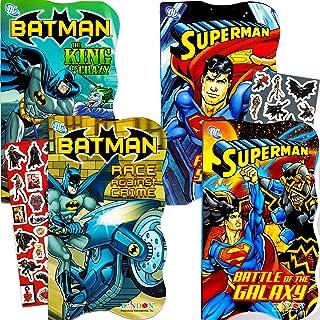 DC Comics Batman vs Superman Board Books for Toddlers - Set of Four Books