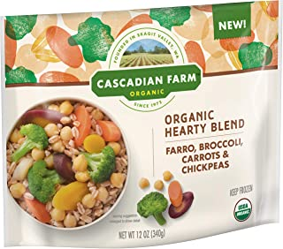 Cascadian Farm Organic Hearty Blend Farro, Broccoli, Carrots & Chickpeas, 12 Ounce (frozen)