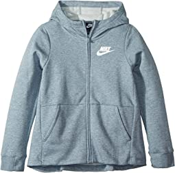 Nsw av15 hoodie full zip fleece dark grey heather university