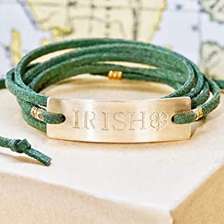Irish Bracelet - Notre Dame Inspired, Green and Gold