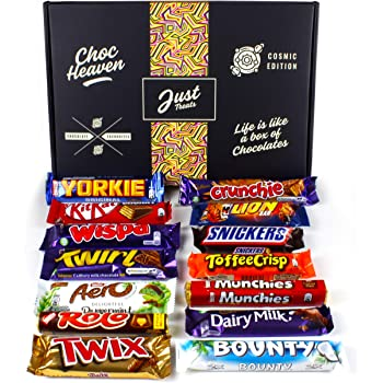 Chocolate Lovers Hamper Cosmic Box - Selection of Your Favourite Chocolate Bars