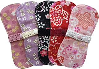すぃーと?こっとん おりもの用 布ナプキン オーガニックミニーナライナー(和桜)5枚セット