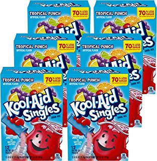 Kool-Aid Singles Tropical Punch (for 16.9-Ounce Bottles), 12-Count Packets (Pack of 6)