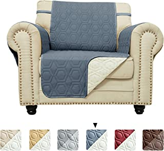 Chenlight Chair Slipcover Furniture Protector Slip Resistant Waterproof Stain Resistant Machine Washable Sofa Cover for Kids Children Pets Dog Cat(Chair:Navy)