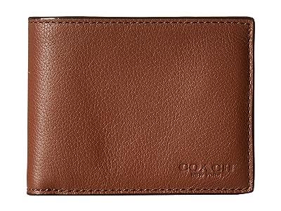 COACH Slim Billfold and Key Fob (Dark Saddle) Bill-fold Wallet