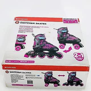 Schwinn Girls' Adjustable 2-in-1 Quad/Inline Skate