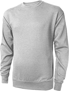 Fleece Sweatshirt for Man Crewneck Casual Brushed Solid Sweater College Shirts