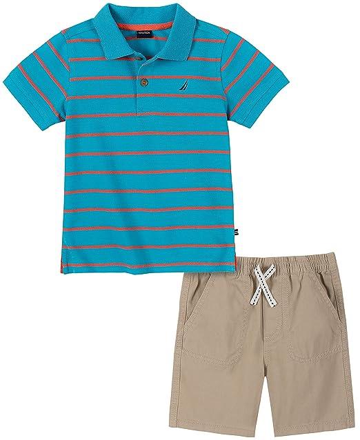 Nautica Sets Boys Polo Shorts Set KHQ