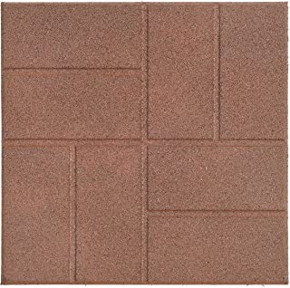Reversible Recycled Rubber Landscaping Paver, Brown, 16