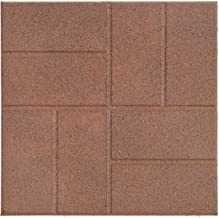International Mulch Reversible Recycled Rubber Landscaping Paver, Brown, 16