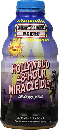 Hollywood 48-Hour Miracle Diet Bottles, 32 Fl. Oz (Pack of 2)