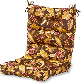 Greendale Home Fashions Indoor/Outdoor High Back Chair Cushion, Timberland Floral