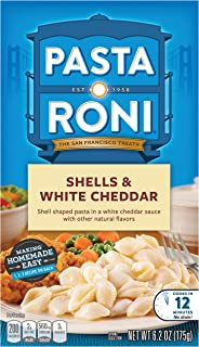 Pasta Roni Shells & White Cheddar Mix (Pack of 12 Boxes) 6.2 oz