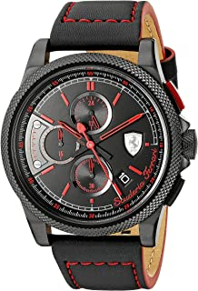 Ferrari Casual Watch For Men Analog Leather - 0830273