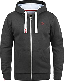 683800660 Solid BennZip Men's Zip Up Hoodie Sweat Hooded Jacket With Hood With Fleece  Lining With Zipper