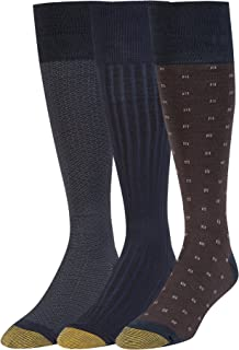 Men's Over The Calf Dress Socks, 3 Pairs