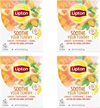 Lipton Herbal Supplement, Soothe Your Tummy 15 ct, Pack of 4
