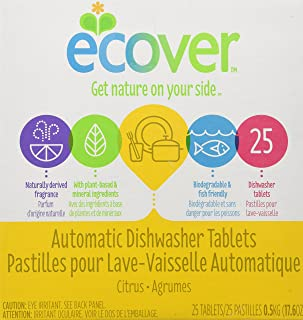 Ecover Natural Automatic Dishwashing Tablets, Citrus - 17.6 Ounce, (Pack of 4)