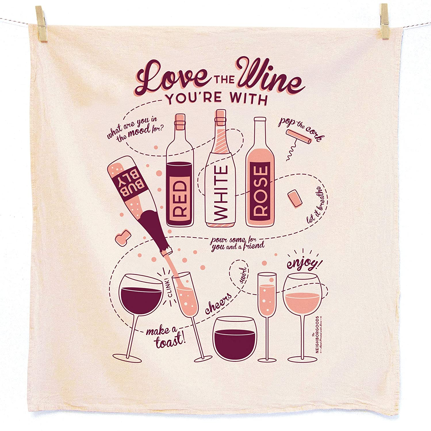 5 ☆ Free shipping on posting reviews very popular Kitchen Towel Wine